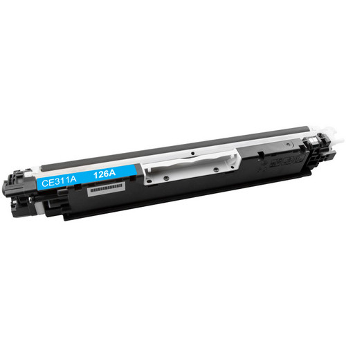 Compatible replacement for HP 126A (CE311A) cyan laser toner cartridge