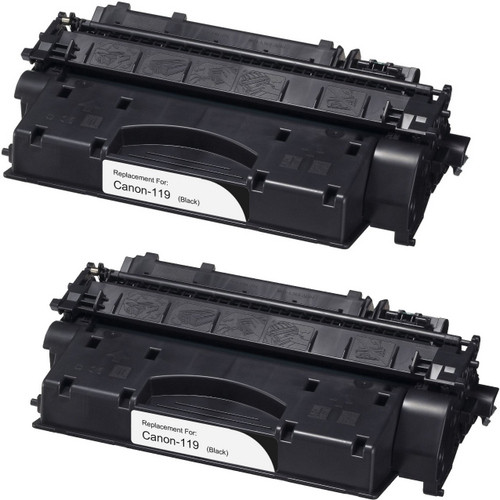 Twin Pack - Compatible replacement for Canon 119 (3480B001AA) black laser toner cartridge