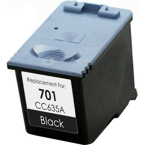 Remanufactured replacement for HP 701 (CC635A) black ink cartridge