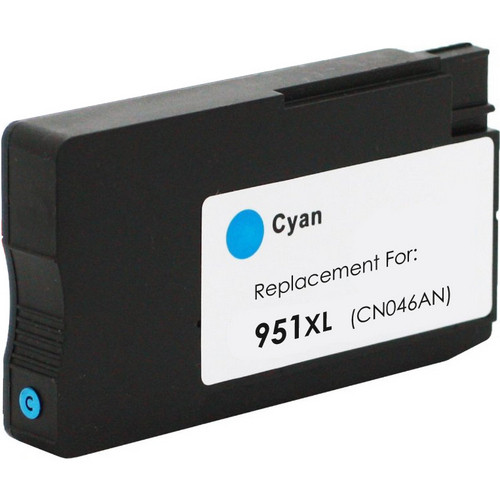 Remanufactured replacement for HP 951XL (CN046AN) cyan ink cartridge