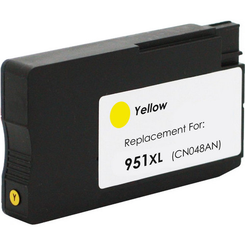 Remanufactured replacement for HP 951XL (CN048AN) yellow ink cartridge