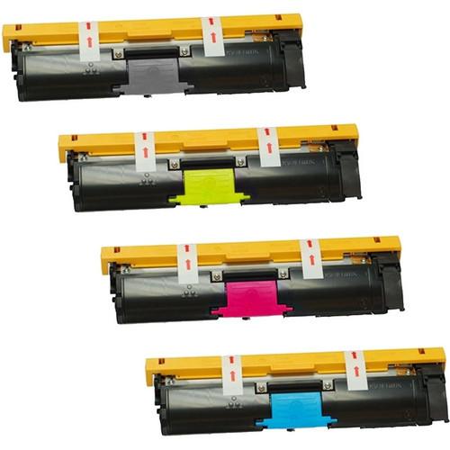 Konica-Minolta A00W462 series laser toner cartridges Black and Color Set