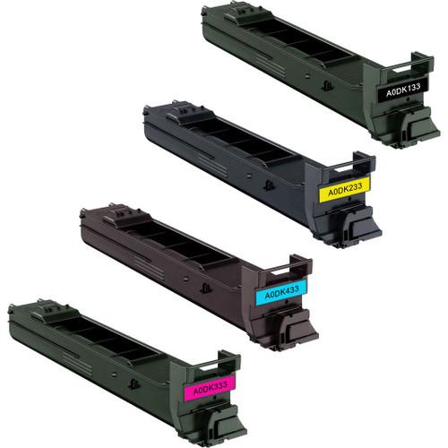 Konica-Minolta TN-318 series laser toner cartridges black and color set
