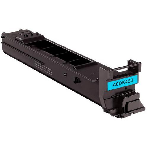 Konica-Minolta A0DK432 cyan laser toner cartridge