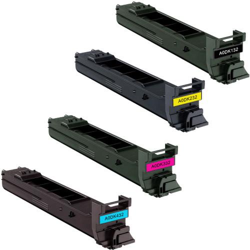 Konica-Minolta A0DK132 series laser toner cartridges black and color set