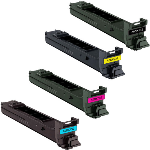 Konica-Minolta A0DK132 series laser toner cartridges black and color set