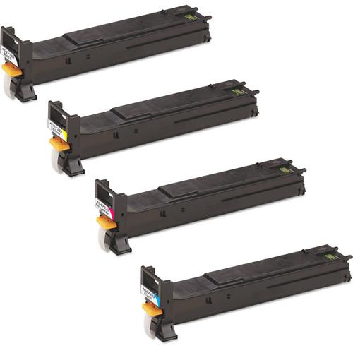 Konica-Minolta A06V133 series laser toner cartridges black and color set