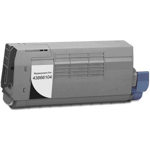 Compatible replacement for Okidata 43866104 black laser toner cartridge