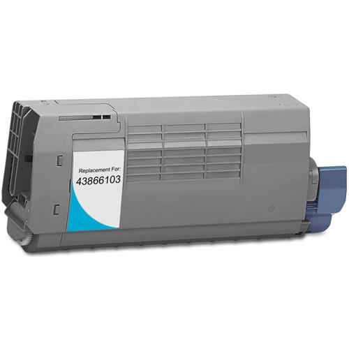 Compatible replacement for Okidata 43866103 cyan laser toner cartridge