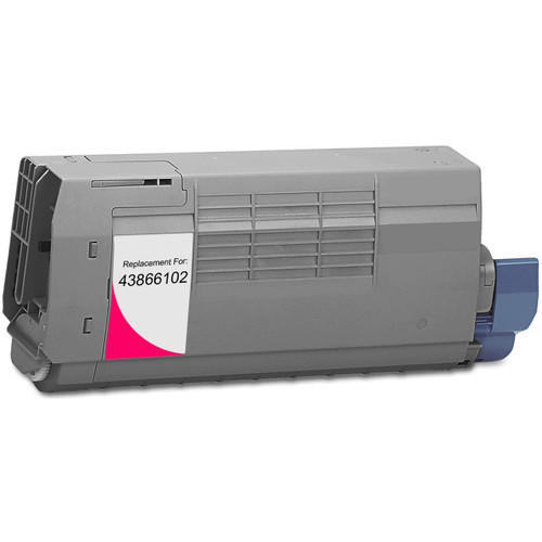 Compatible replacement for Okidata 43866102 magenta laser toner cartridge
