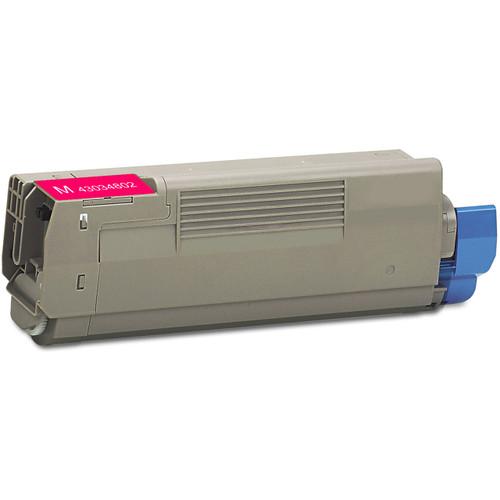 Compatible replacement for Okidata 43034802 magenta laser toner cartridge