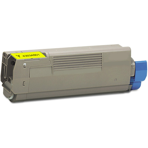 Compatible replacement for Okidata 43034801 yellow laser toner cartridge