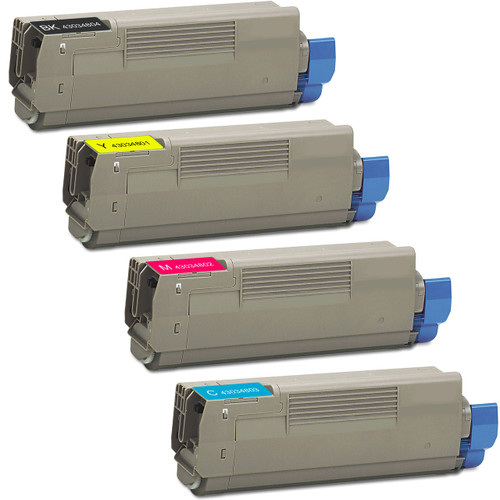 4 Pack - Compatible replacement for Okidata 43034804 series laser toner cartridges