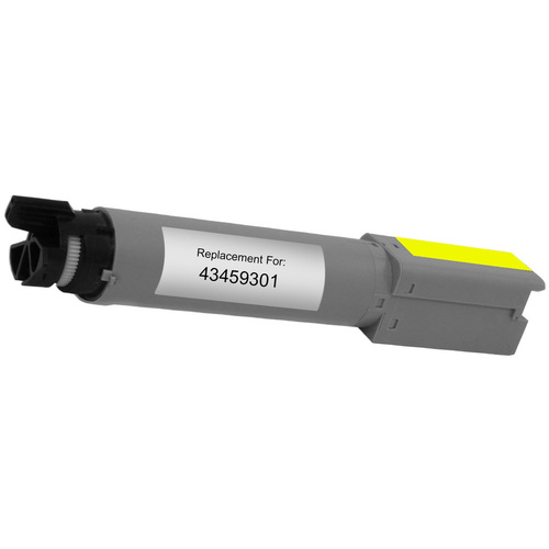 Compatible replacement for Okidata 43459301 yellow laser toner cartridge