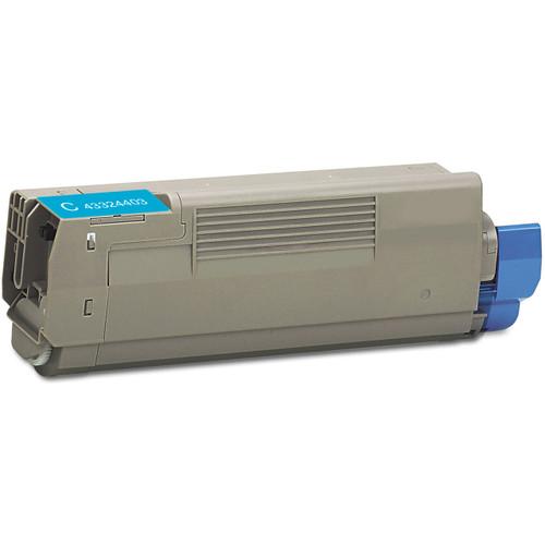 Compatible replacement for Okidata 43324403 cyan laser toner cartridge