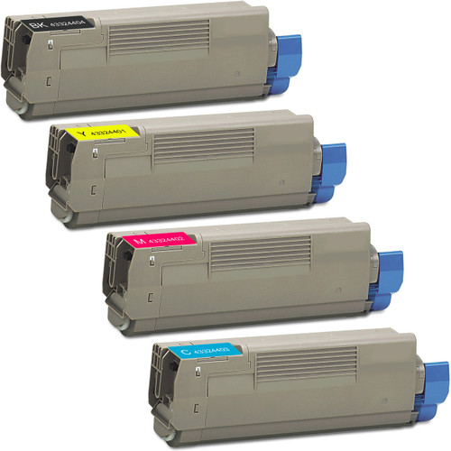4 Pack - Compatible replacement for Okidata 43324404 series laser toner cartridges