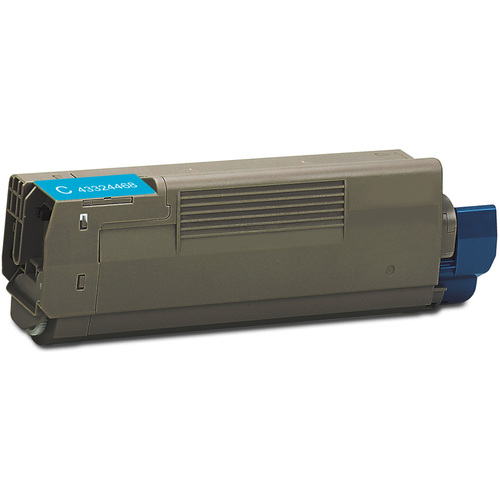 Compatible replacement for Okidata 43324468 cyan laser toner cartridge