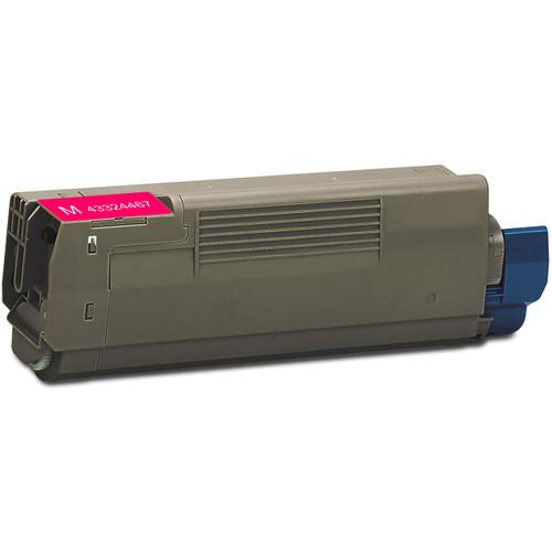 Compatible replacement for Okidata 43324467 magenta laser toner cartridge