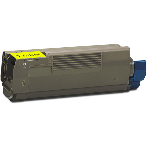 Compatible replacement for Okidata 43324466 yellow laser toner cartridge