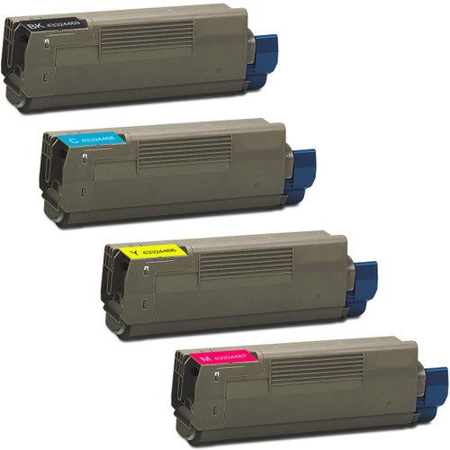 4 Pack - Compatible replacement for Okidata 43324469 series laser toner cartridges