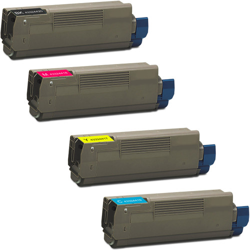 4 Pack - Compatible replacement for Okidata 43324420 series laser toner cartridges