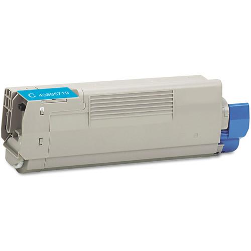 Compatible replacement for Okidata 43865719 cyan laser toner cartridge
