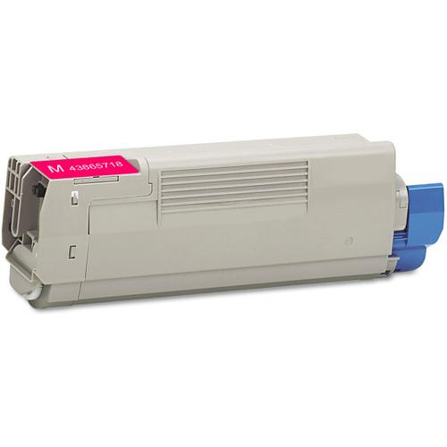 Compatible replacement for Okidata 43865718 magenta laser toner cartridge