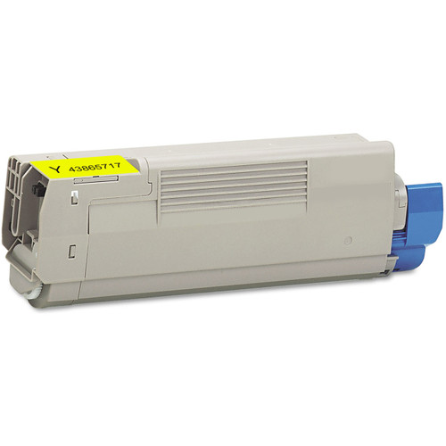 Compatible replacement for Okidata 43865717 yellow laser toner cartridge