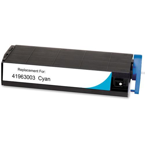 Compatible replacement for Okidata 41963003 cyan laser toner cartridge