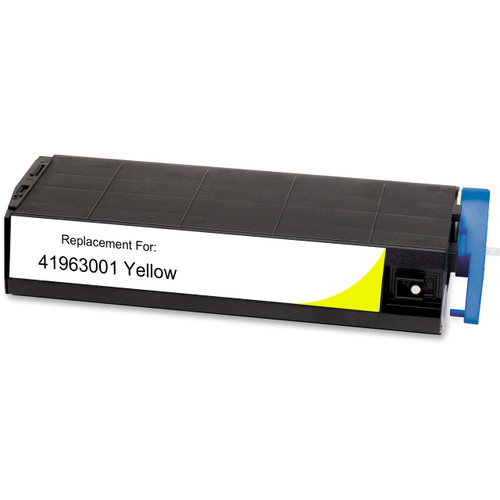 Compatible replacement for Okidata 41963001 yellow laser toner cartridge