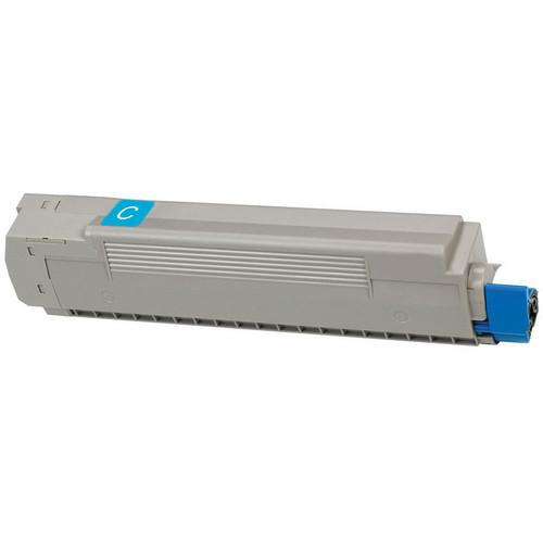 Compatible replacement for Okidata 43487735 cyan laser toner cartridge