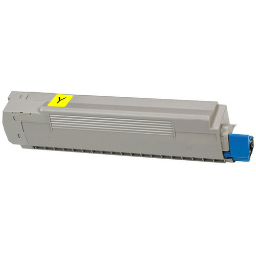Compatible replacement for Okidata 43487733 yellow laser toner cartridge