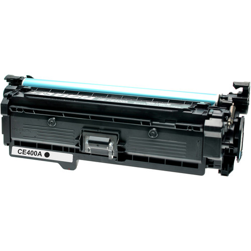 Remanufactured replacement for HP 507A (CE400A) black laser toner cartridge