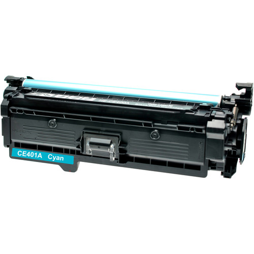 Remanufactured replacement for HP 507A (CE401A) cyan laser toner cartridge