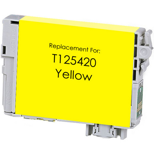 Remanufactured replacement for Epson T125420 yellow ink cartridge