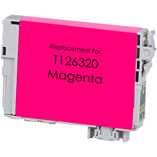 Remanufactured replacement for Epson T126320 magenta ink cartridge