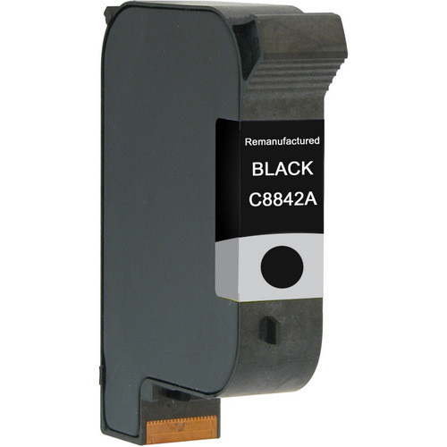 Remanufactured replacement for HP C8842A black ink cartridge