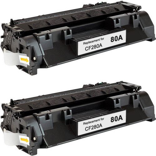Twin Pack - Standard yield Compatible replacement for HP 80A (CF280A) black laser toner cartridges
