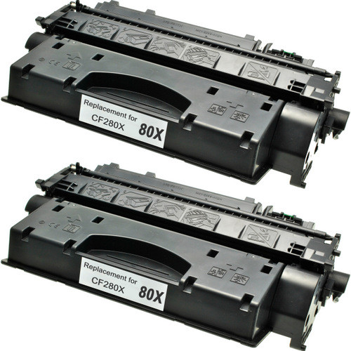 Twin Pack - High yield Compatible replacement for HP 80X (CF280X) black laser toner cartridge