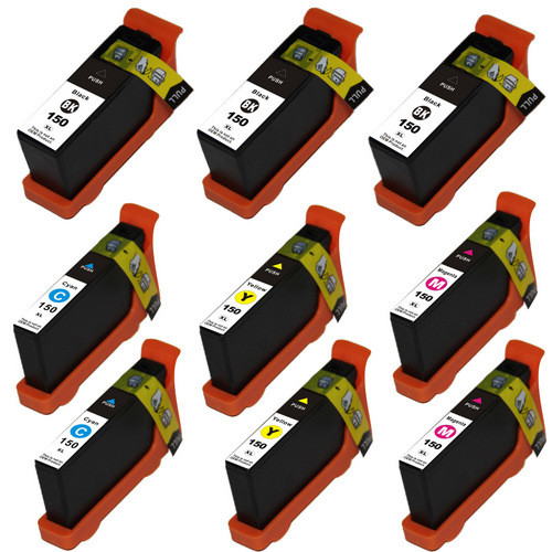 9 Pack - Compatible replacement for Lexmark 150XL series ink cartridges