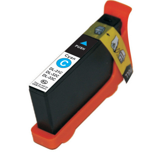 Compatible replacement for Dell series 33 cyan ink cartridge (331-7378)