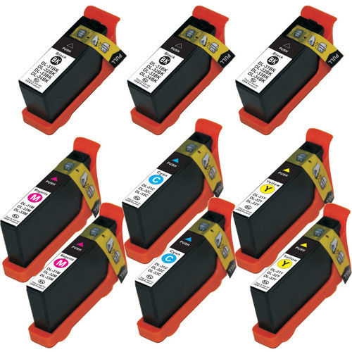 9 Pack - Compatible replacement for Dell series 33 and series 34 ink cartridges