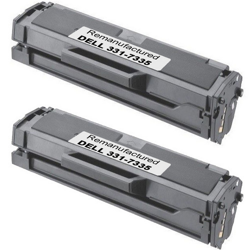 Twin Pack - Compatible replacement for Dell 331-7335 (HF442) black laser toner cartridges