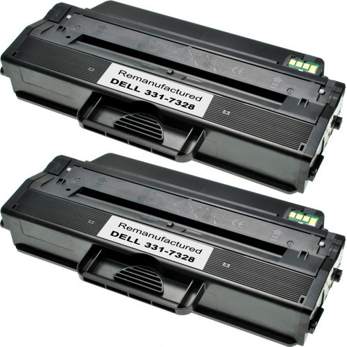 Twin Pack - Compatible replacement for Dell 331-7328 (RWXNT) black laser toner cartridges