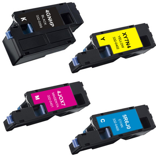 4 Pack - Compatible replacement for Dell 332-0399, 332-0400, 332-0401, 332-0402 series laser toner cartridges