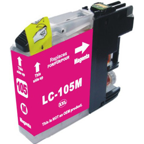 Compatible replacement for Brother LC105M magenta ink cartridge