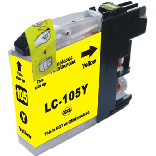 Compatible replacement for Brother LC105Y yellow ink cartridge