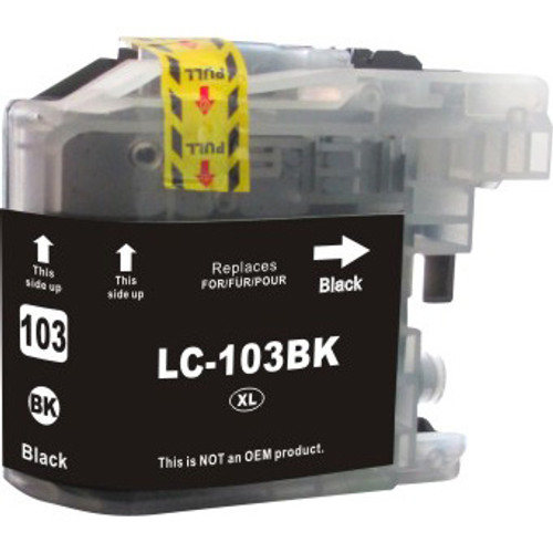 Compatible Brother LC103BK High-Yield Black Ink Cartridge (Replaces LC101BK)