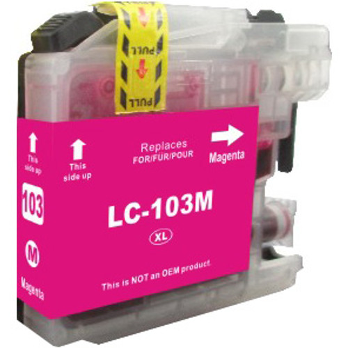 Compatible Brother LC103M High-Yield Magenta Ink Cartridge (Replaces LC101M)