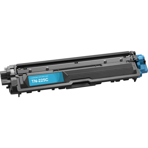 Compatible replacement for Brother TN225C cyan laser toner cartridge